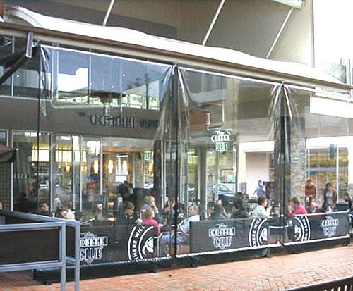 restaurant shades drop blinds
