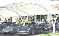 parking lot shades for restaurants