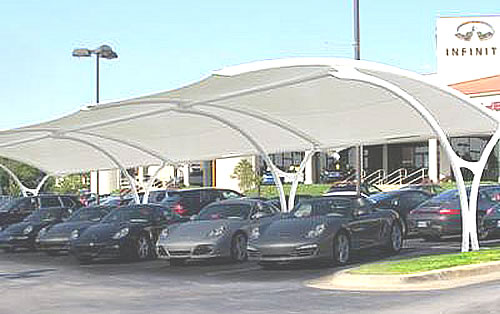 parking lot shade structures