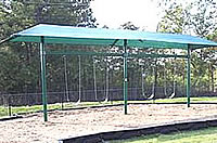 shaded swingsets for restaurants