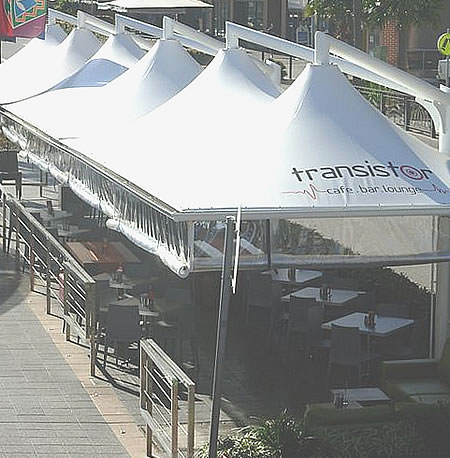 square and rectangle restaurant shade structures
